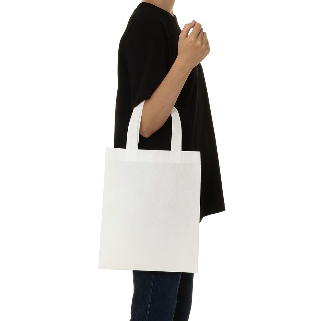 不織布バッグのサイズイメージ